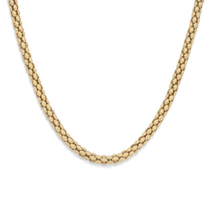 Made in Italy 14 Karat Gold Plated Coreana Chain Necklace Italian Jewelry - Shop Italy and Sicily Gifts Made in Italy Italian Themed