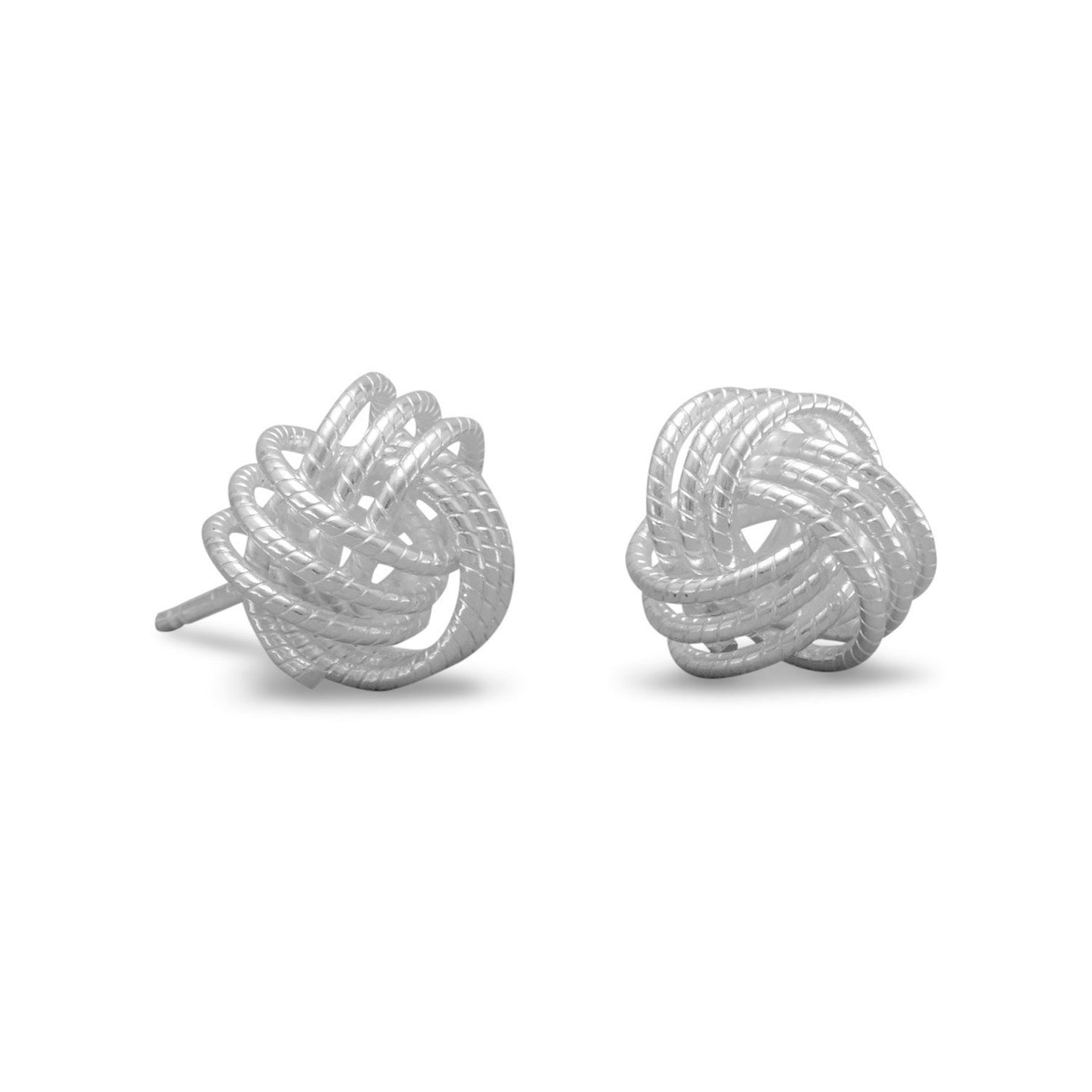 Made in Italy Small Twisted Love Knot Earrings Italian Jewelry - Shop Italy and Sicily Gifts Made in Italy Italian Themed