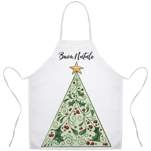 Buon Natale Italian Christmas Holiday Apron - Shop Italy and Sicily Gifts Made in Italy Italian Themed