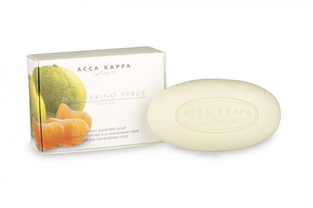 Acca Kappa Green Mandarin Boxed Bar Soap - 5.3 oz. - 150gr. (2 Bar Set) - Shop Italy and Sicily Gifts Made in Italy Italian Themed