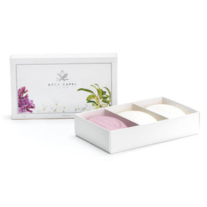 Acca Kappa Soap Gift Set 3-pc Olea Fragrans, Jasmine, Lilac - Shop Italy and Sicily Gifts Made in Italy Italian Themed
