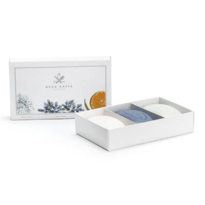 Acca Kappa Soap Gift Set 3-pc White Moss - Blue Lavender - Green Mandarin - Shop Italy and Sicily Gifts Made in Italy Italian Themed