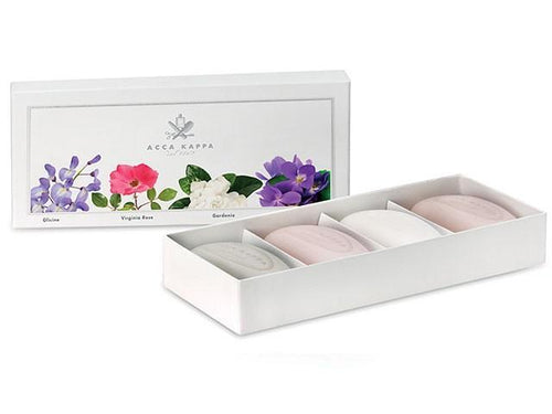Acca Kappa Soap Gift Set 4-pc Violet, Gardenia, Wisteria, Rose - Shop Italy and Sicily Gifts Made in Italy Italian Themed