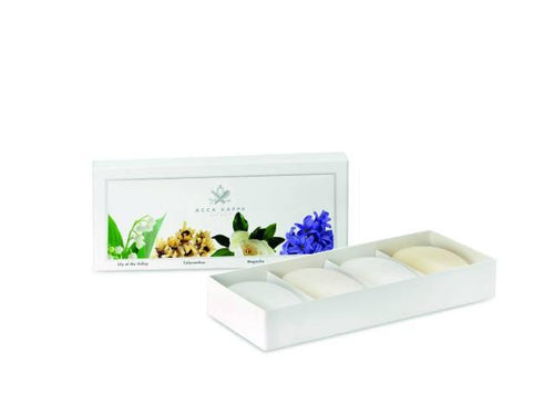 Acca Kappa Soap Gift Set 4-pc Lily of the Valley, Calycanthus, Magnolia, Hyacinth - Shop Italy and Sicily Gifts Made in Italy Italian Themed