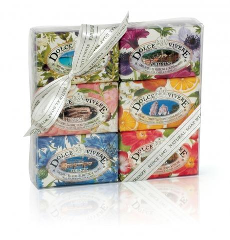 Nesti Dante Dolce Vivere Handcrafted Soap Gift Set - Shop Italy and Sicily Gifts Made in Italy Italian Themed