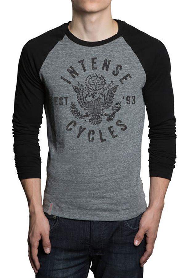 Intense Eagle Emblem Long Sleeve Tee