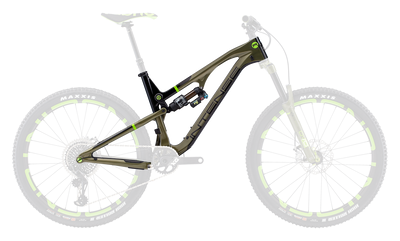 RECLUSE FACTORY FRAME AND SHOCK SIZE XL - GREEN/BLACK