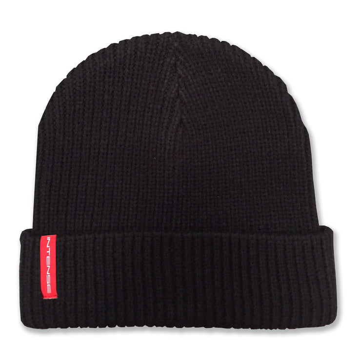 Black Knit Intense Beanie