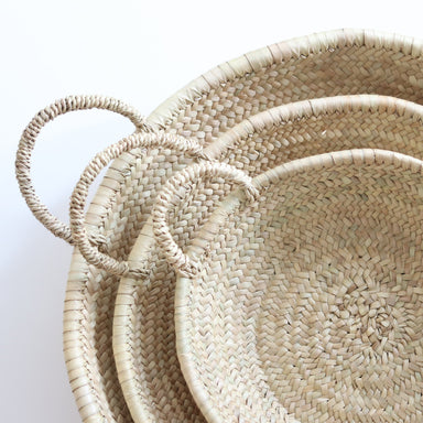 handwoven plates in different sizes
