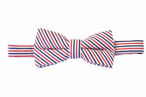 striped bow ties, Red bow ties