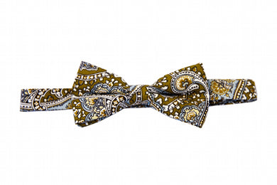 Brown bow tie, Paisley bow tie
