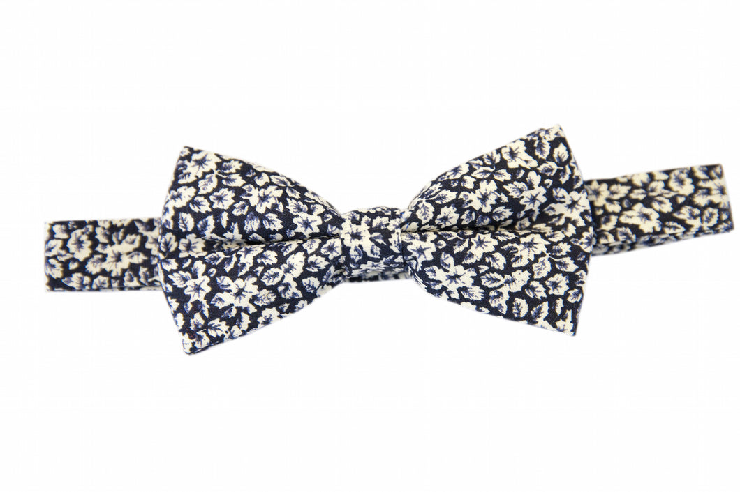 Blue bow ties, Floral bow ties