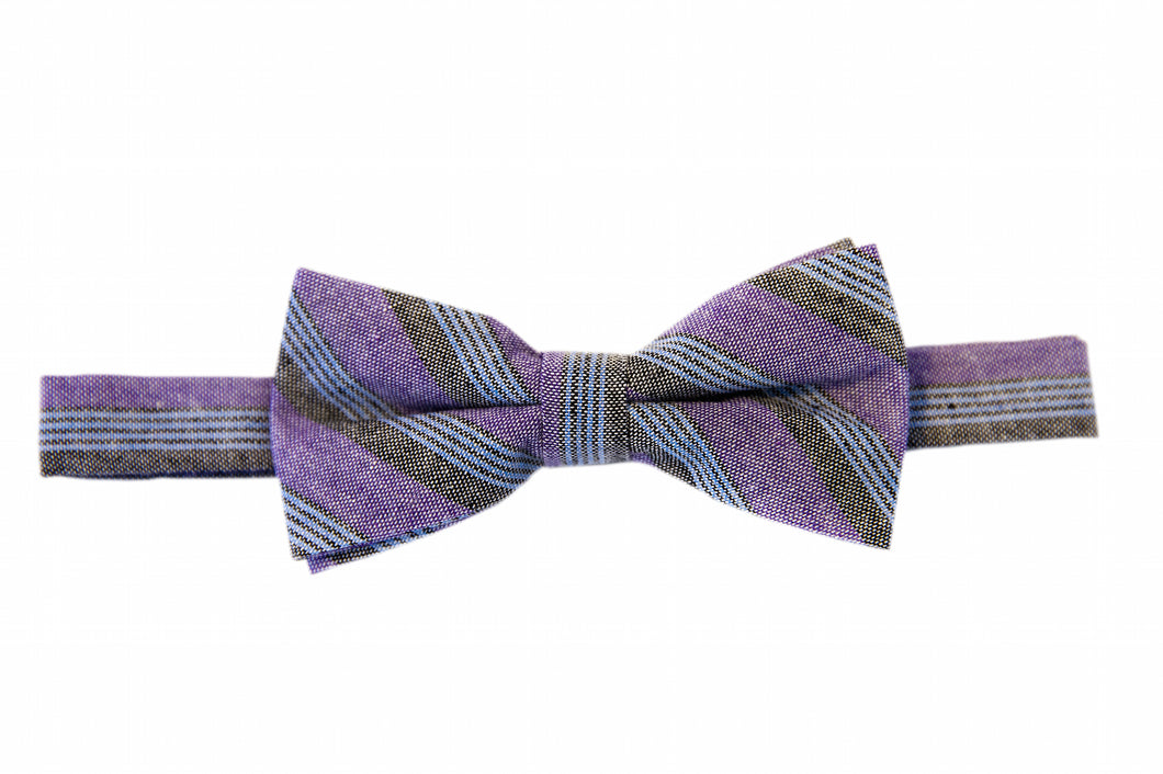 Purple bow ties, Striped bow ties