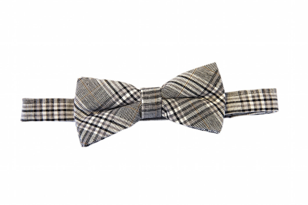 Black bow tie, Plaid bow time