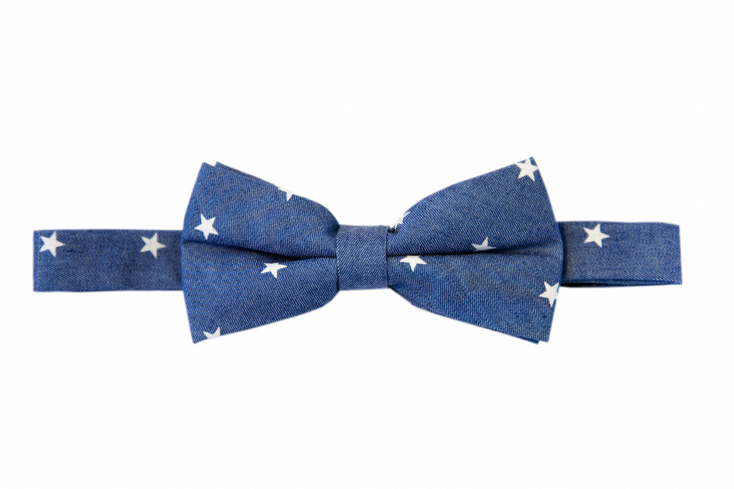 Denim bow ties, Blue bow ties