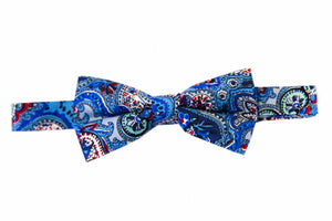 Paisley bow tie, Blue bow tie