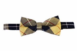 Mustard bow tie, Plaid bow ties