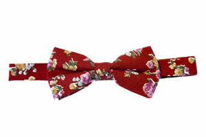 Red bow ties, Floral bow ties