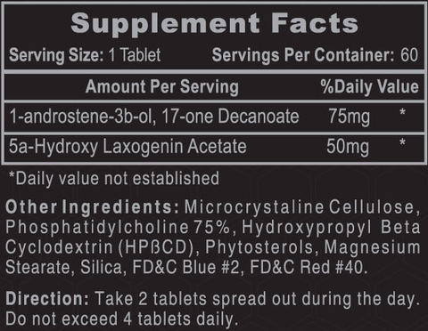 Hi-Tech Pharmaceuticals 1-AD Supplement Facts