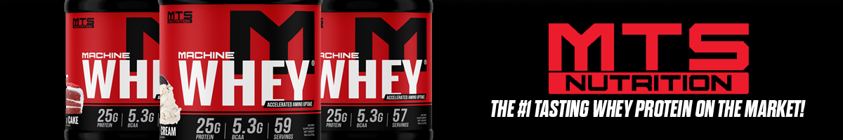 MTS Nutrition Machine Whey Product Banner