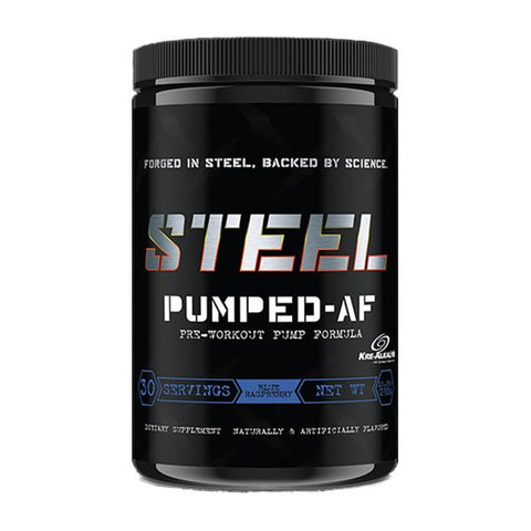Steel Supplements PUMPED-AF Blue Raspberry 30 Servings