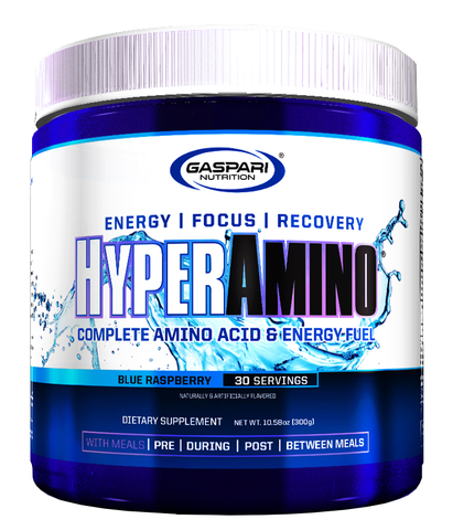 Gaspari Nutrition HyperAmino Blue Raspberry 30 Servings