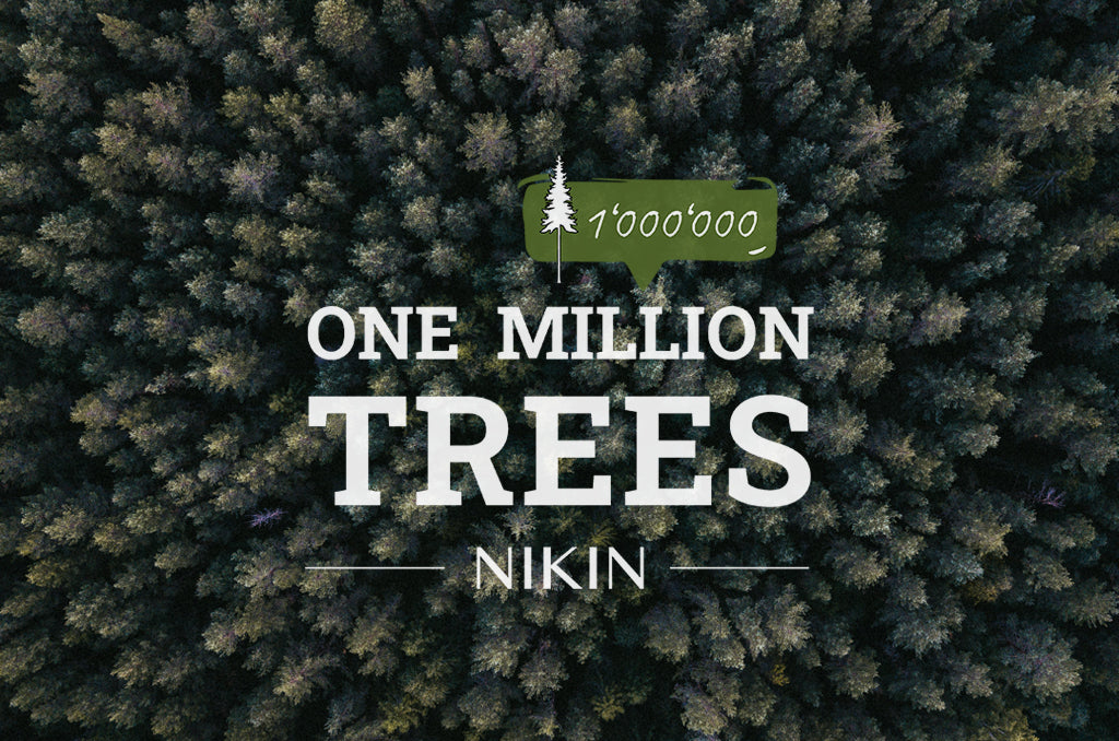 one Million Trees Logo vor Wald