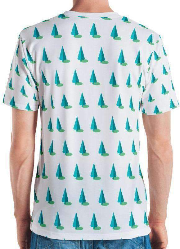 Blue Trees All-Over Print Men's Tee