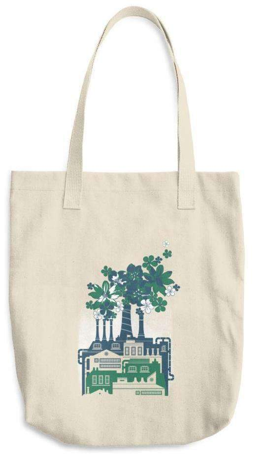 Factory Of Flowers Cotton Tote Bag