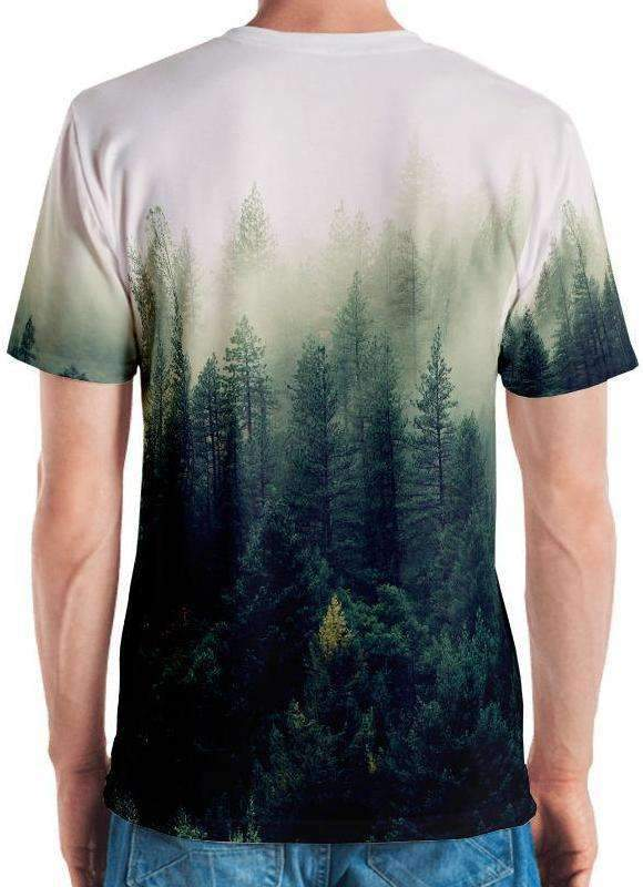 Foggy Forest All-Over Print Men's Tee