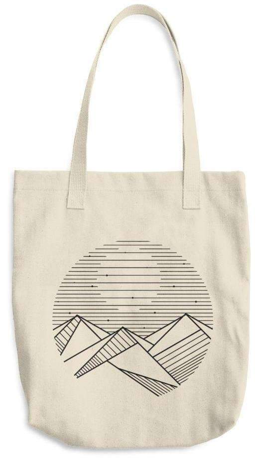 Mountain Moon Cotton Tote Bag