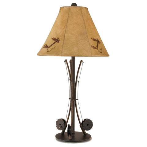 3 Fishing Pole Table Lamp