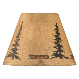 Parchment Yellow Canoe Lamp Shade