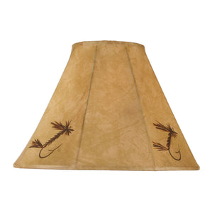 Faux Leather Fishing Lure Lamp Shade