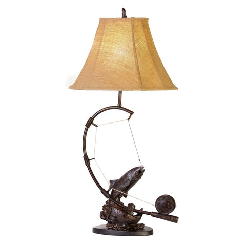Fly Rod Trout Table Lamp