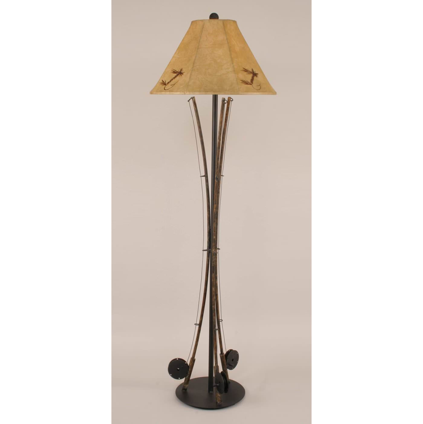 Iron 3 Fishing Pole Floor Lamp