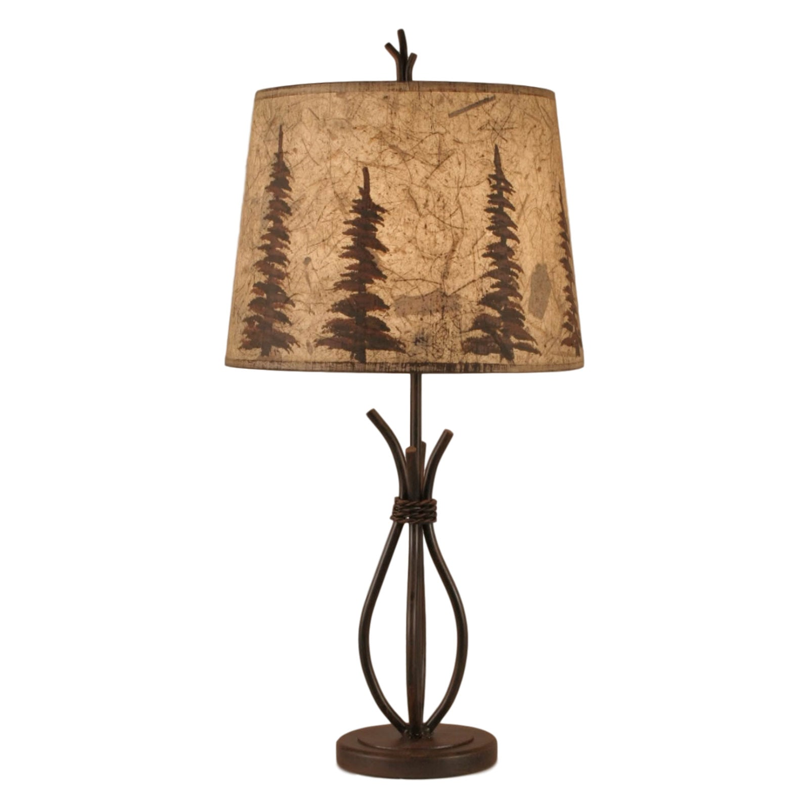Braided Wire Pine Tree Table Lamp