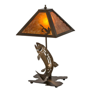 Leaping Trout Table Lamp