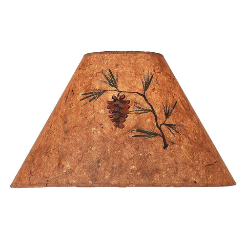 Wood Chip Lone Pine Cone Lamp Shade