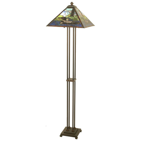 Loon Stained Glass Floor Lamp