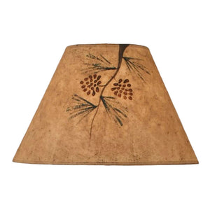 Parchment Pine Branch Lamp Shade