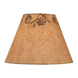 Parchment Pine Cone Wreath Lamp Shade