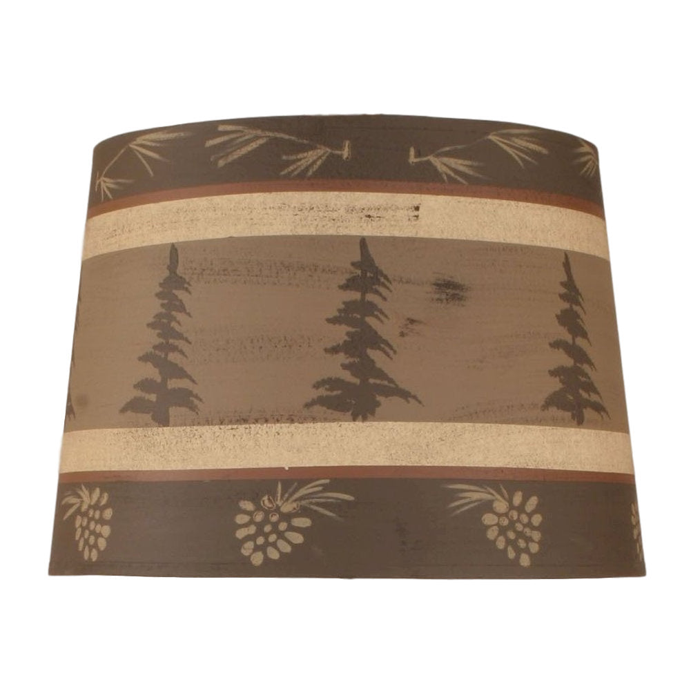 Tall Pines Lamp Shade - Brown
