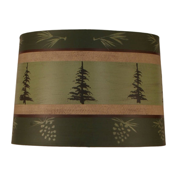 Tall Pines Lamp Shade - Green