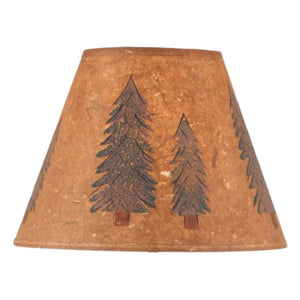 Parchment Tall Pines Lamp Shade