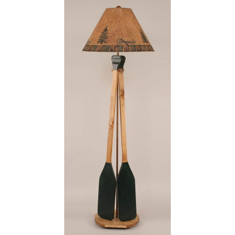 Green 2 Paddle Floor Lamp