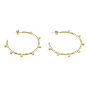 Orb Hoop Earrings