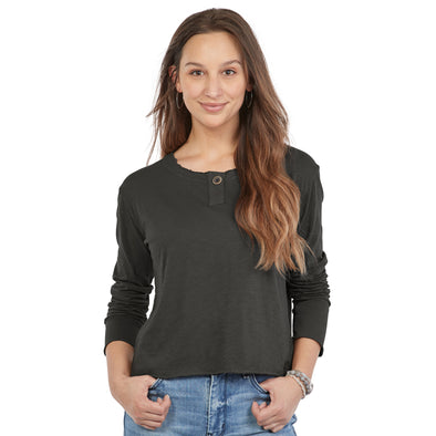 Women's Long-Sleeve Cotton Henley