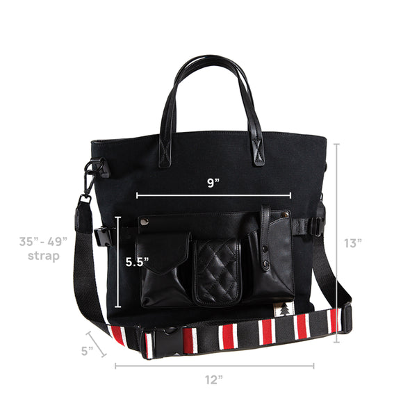 LumberUnion black tote - executive tote dimension