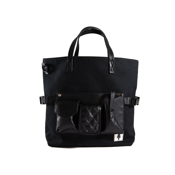 LumberUnion black tote - executive tote front no strap